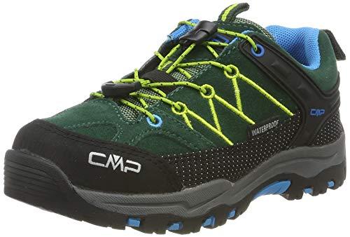 CMP Unisex-Kinder Kids Rigel Low Shoes Wp Trekking- & Wanderhalbschuhe, Grün (Pino-Limegreen 04fd), 29 EU