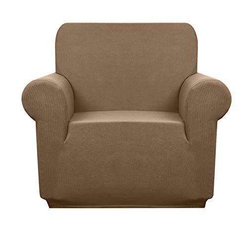 Granbest Sofabezug, wasserdicht, 1 Stück, Jacquard, Sesselbezug, dehnbar für Wohnzimmer (1-Sitzer, Kamel)