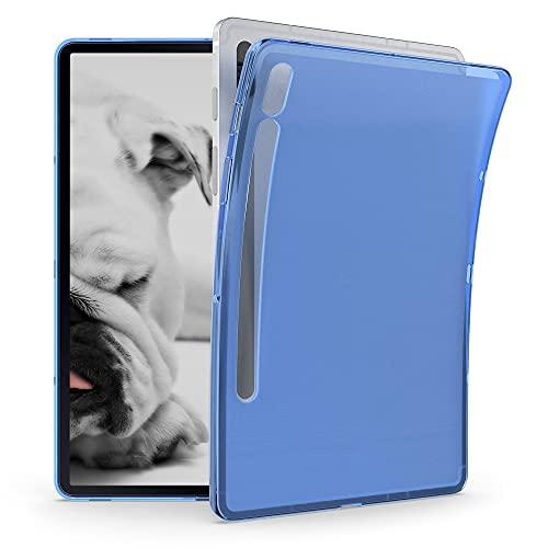 kwmobile Funda Compatible con Samsung Galaxy Tab S7 - Carcasa para Tablet de Silicona TPU - Cover en Azul/Transparente