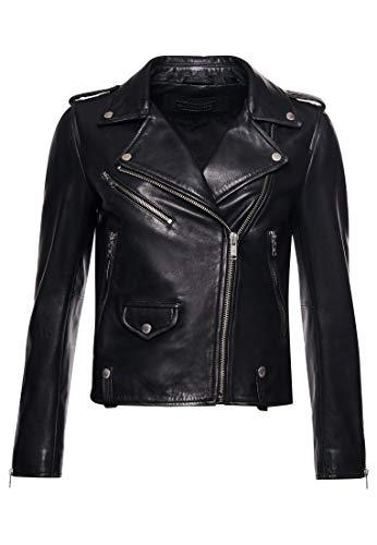 in vera pelle molto sexy da donna Gilet da motociclista colore: nero