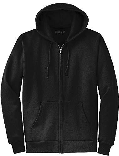 Joe's USA Full Zipper Hoodies - Hooded Sweatshirts Size L, Black