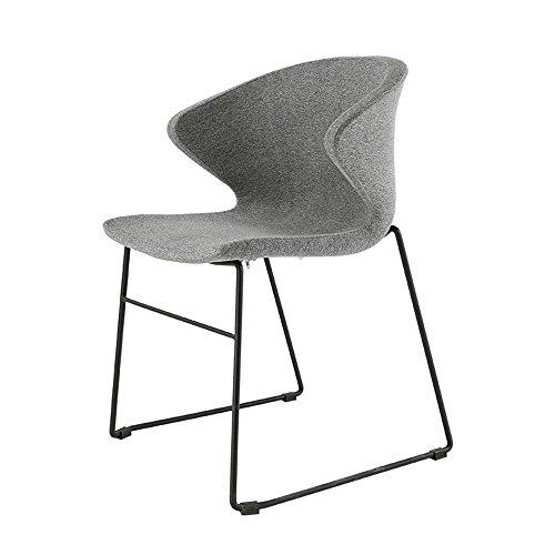 XIAOLIN Simple Moderne Chaise Longue Élégante Chaise De Bureau Gris Chaise D'ordinateur Chaise De Restaurant Chaise De Négociation À La Maison ( Couleur : Noir )