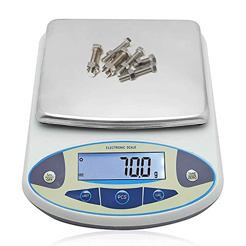 Bonvoisin Analytical Electronic Balance Laborwaage 0,1 g Genauigkeit Laborwaage Großer Wägebereich Digitale Küchenwaage Schmuck Goldwaage Präzisionswaage (30 kg x 0,1 g)
