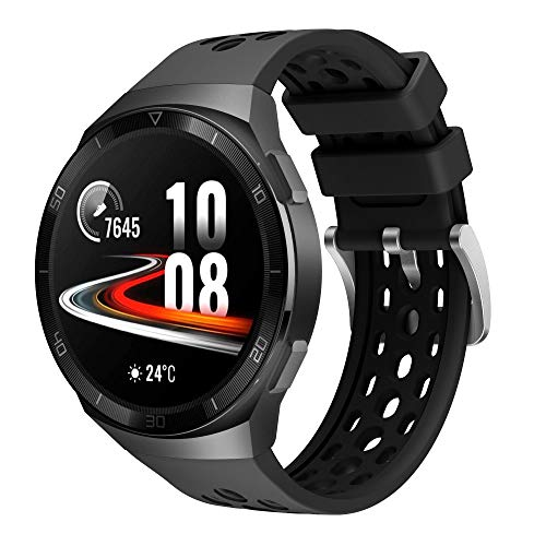 Correa Bicolor para Huawei Watch GT2e - Silicona Impermeable y Resistente - Correa Deportiva para Huawei Watch GT 2e (Negro)