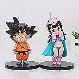 VNNY 2 pz/Set 11-15 cm Dragon Ball Z Goku Chichi Krillin Oolong Master Roshi Action PVC Figure Model Toy-Goku Chichi