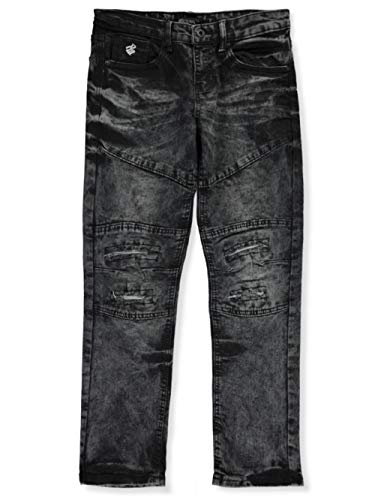 Rocawear Big Boys' Seam Distress Denim Jeans - Black, 14