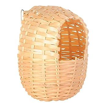 Nid exotique, bambou, 11 × 12 cm pour oiseau,