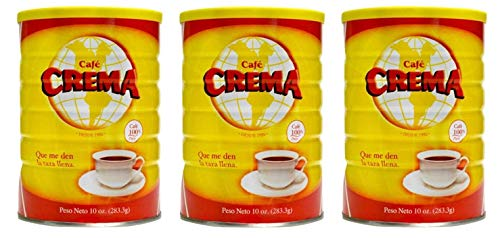 Cafe Crema ground coffee from Puerto Rico, 10 ounce can (Pack of 3)