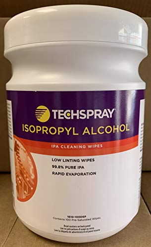 Techspray - IPA Alcohol Pre-Saturated Wipe Container 100/dspns