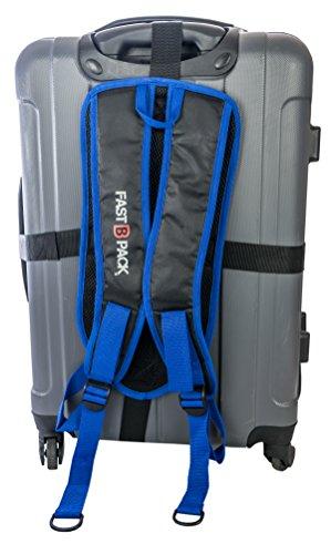 FastBpack Adattatore da Viaggio Che converte la Valigia in Uno Zaino. Travel Gear Suitcase to Backpack Converter (Blu-Blue)