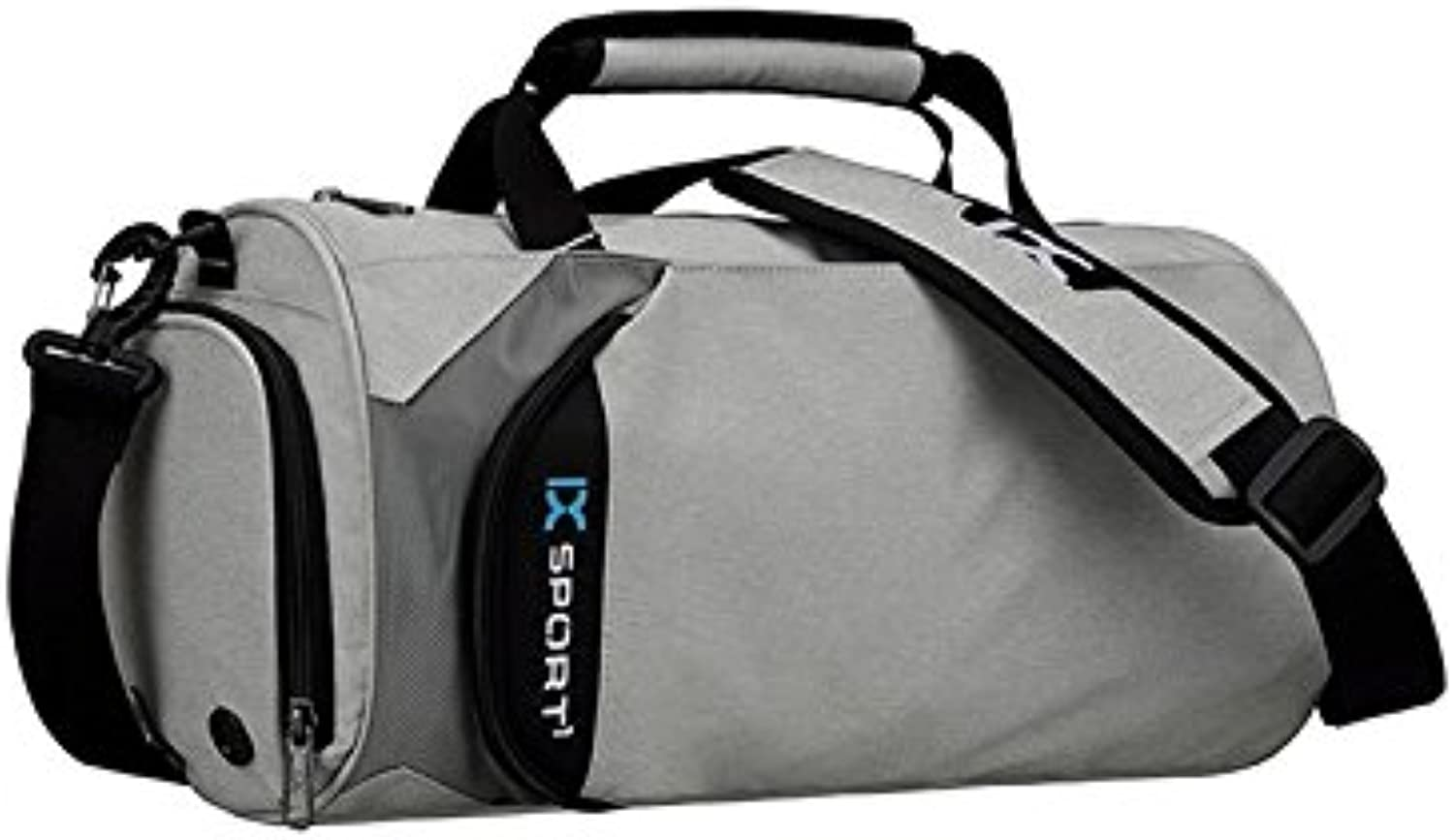 Backpacks Outdoor Large Capacity Gym Bag Sports Holdall Travel Weekender Duffel Bag for Men and Women(Light Grey) Vellhater
