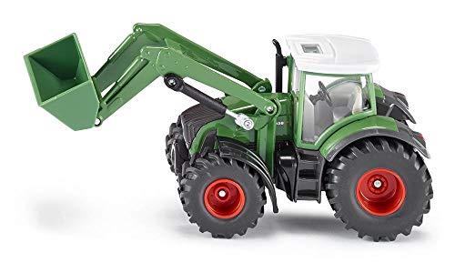 SIKU 1981, Fendt Traktor mit Frontlader, 1:50, Metall/Kunststoff, Grün, Viele Funktionen