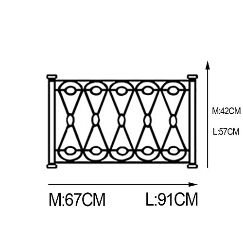 Schmiedeeisen wandtattoo Zaun Zaun Glas Fenster Dekoration Home Art Aufkleber Dekoration Scroll Muster wiederholen 100x63cm