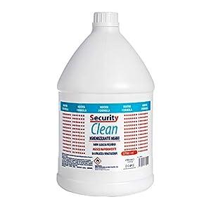 Security Clean Gel Igienizzante Mani 3780 ML Con 75% Alcol, Perfetto Per Uso Personale, Scuola, Ufficio, Negozio E Come Ricarica Per Colonnine (3780 ML)