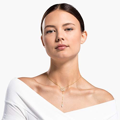 Swarovski Collana Symbolic Lotus, Bianco, Placcato Color Oro