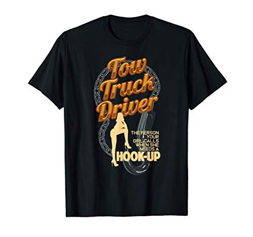 Camionero de remolque Camiseta de enganche de coche divertid Camiseta
