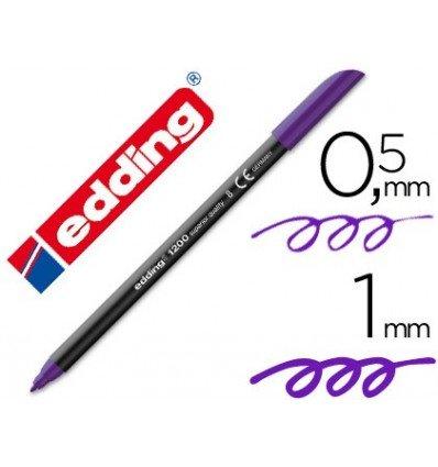 Edding - Rotulador punta fibra 1200 violeta n.8 -punta