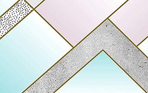 Carta da parati 3D Murales Elegante minimalista Astratto geometrico Linee dorate Soggiorno Camera da letto Tv Sfondo Decorazione murale Art foto immagine poster -400×280cm(LxA)