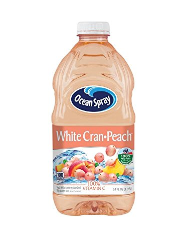 Ocean Spray Juice Drink, White Cran-Peach, 64 Ounce Bottle
