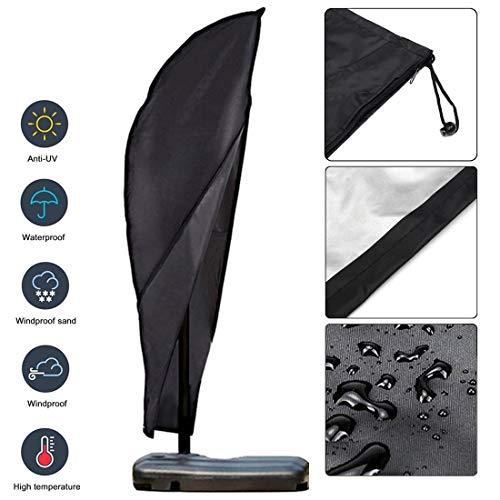 Hotbird Sonnenschirm Schutzhülle abdeckung für ampelschirm schutzhülle für sonnenschirm 300 cm mit Reißverschluss
