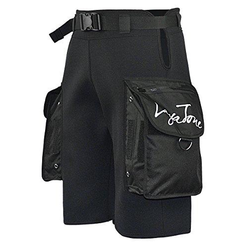 Esta es una versión ACTUALIZADA de los shorts de buceo de la marca LayaTone con dos bolsillos de nylon de gran tamaño en el lateral. Cintura ajustable en la cintura para un mejor ajuste. Super tamaño bolsillo de nylon negro en ambos lados, fresco y c...