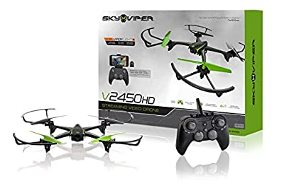Sky Viper v2450HD Streaming Drone with Flight Assist & 2X Improved Flight Range