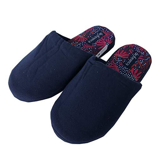 DE FONSECA pantofole ciabatte da donna in cotone con fondo antiscivolo art.W700 (UE, BLU, numeric_40)