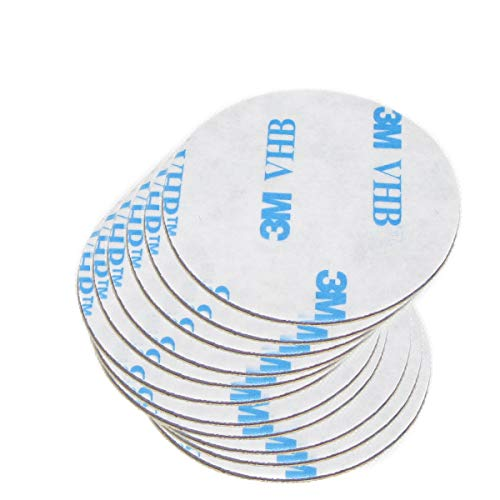 20 of VHB 3M Dots Adhesive Double-Sided Tape High Bond Conformable Acrylic Glue Replacement Kit 20 of 1.4 inch Circle Small Round Big Plus Alcohol Pad