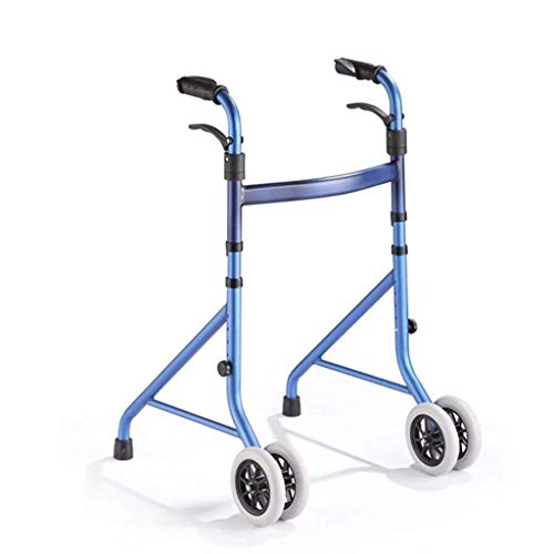 GenericBrands Folding Walking Frame With Wheeled Walker Aid for Walker Aluminum Alloy Adjustable Height for The Elderly and Disabled