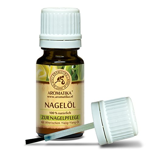 Nagelöl 10ml - Nagelhautöl mit Naturreinem 100% Zitronenöl - Ylang-Ylang - Jojoba & Traubenkern - für Trockene & Brüchige Nägel - Nagelwachstum - Nagelstärkung - Cuticle Nail Oil - Nagelpflege