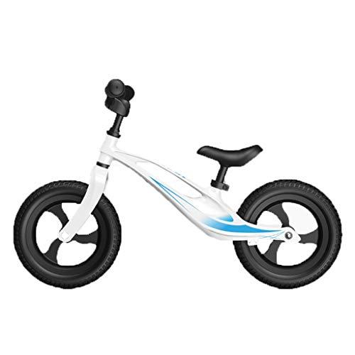 ANQIBIKE Balance Bike, Staffa in Lega di Magnesio Senza Pedale Versione Competitiva Adatta for Bambini di 3-6 Anni (5 Colori) ( Color : White )