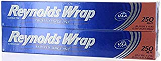Reynolds Wrap Aluminum Foil, 250 sq ft, Pack of 4