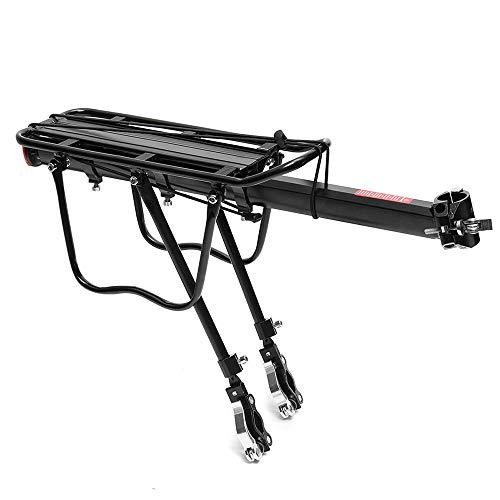 Portaequipajes Trasero para Bicicleta Estante de la bici posterior de la bicicleta del soporte de carga 50 kg de liberación rápida Ciclismo Porta equipaje adecuado for la mayoría Bicicletas Percha par