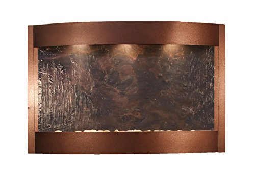 Calming Waters Water Feature with Multi-Color Featherstone (Copper Vien)