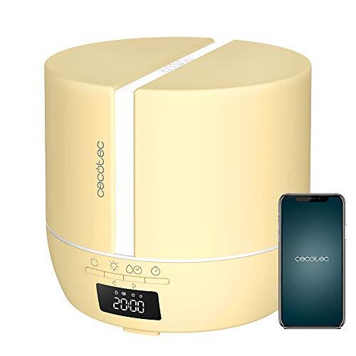 Cecotec Difusor de aromas PureAroma 550 Connected SunLight. Capacidad 500ml, Pantalla LED,...