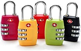 GANA TSA Approved 3 Combination Travel Suitcase Luggage Combination Padlock Number Code Lock Pin for Luggage Suitcases and...
