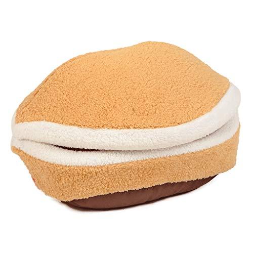 Qbylyf bed bank Hamburger stijl velvet + knoopspons of ritssluiting, zacht en comfortabel, afneembaar, warm, voor bed, huis en bed, kussens