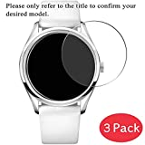 [3 Pack] Synvy Tempered Glass Screen Protector for Emporio Armani AR6035 9H Protective Screen Film Protectors Smartwatch Smart Watch