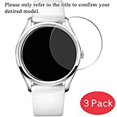Please refer to the title to confirm the specific model. 0.26mm thickness maintains original response sensitivity. Screen Protector can effectively protect your watch from unwanted scuffs and scratches. Bubble-free adhesive makes it easy to install t...