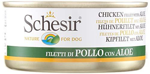 SCHESIR DOG In gelatina con filetti di pollo e aloe 150gr Mangimi umidi per cani 🔥