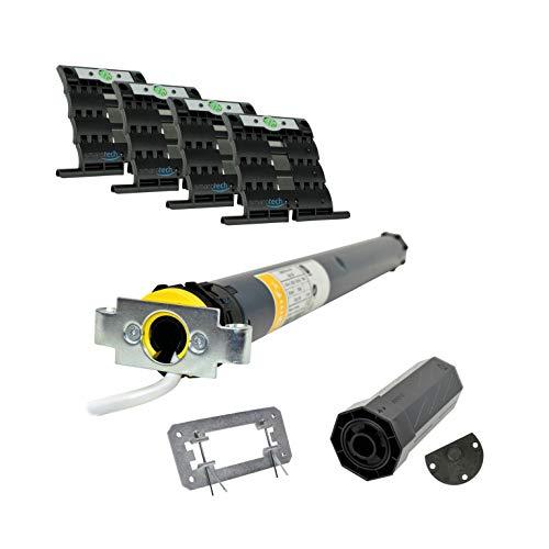 smarotech Juego de reequipamiento para modernizar correa/manivela en motor de persiana Oximo 40 io 13/16 (hasta 5,6 m²), incluye set de montaje smarotech SW40 (para eje de 8 cantos)