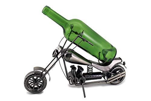 WINE BODIES Harley Davidson Metal Wine Bottle Holder Character, Charcoal