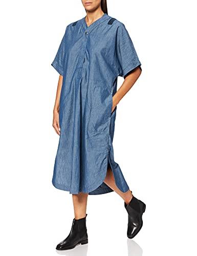 G-STAR RAW Baseball Scoop Hem Vestido Casual, Azul (Rinsed C432-082), XXL para Mujer