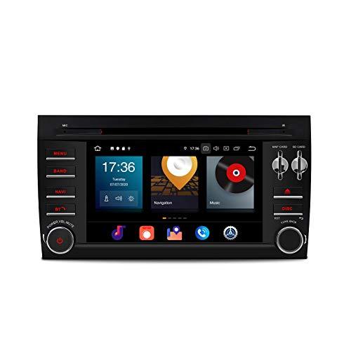 KAUTO 7'Android 10.0 Estéreo para automóvil Octa Core 64G ROM 4G RAM Auto Radio Reproductor de DVD 2 DIN Navegación GPS Soporte BT5.0 WiFi DVR OBD2 Dab TPMS Auto Play Video 2K para Porsche Cayenne