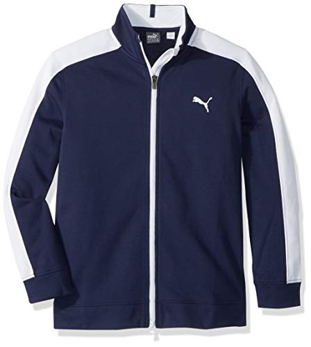 Puma Golf Boys 2018 Heritage Track Jacket, Small, Peacoat