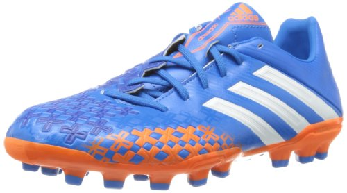 adidas Predator Absolado LZ Traxion AG, Herren Fußballschuhe, Q21702, Blau (Priblu/Runwht/Orange), Gr. 42 EU (8 UK)