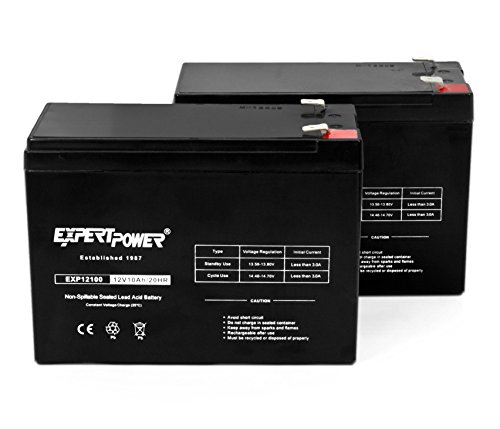 ExpertPower 12V 10AH SLA Rechargeable Battery / 2 Pack
