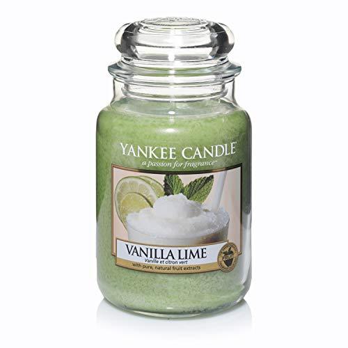 Yankee Candle Duftkerze im großen Jar, Vanilla Lime, Brenndauer bis zu 150Stunden