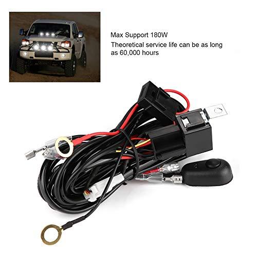 Arnés de Cableado de Luz LED, Lámpara para Automóvil 12 / 24V 180W ...