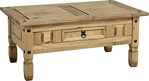 P N Homewares Corona Coffee Table Rustic Mexican Pine Coffee Table Shaker Coffee Table Traditional Pine 1 Drawer Coffee Table